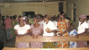 Une partie de l'assemblée