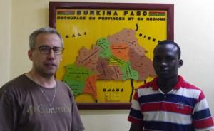 de gauche à droite, Vincent Cabanac, et Bernard Bamogo