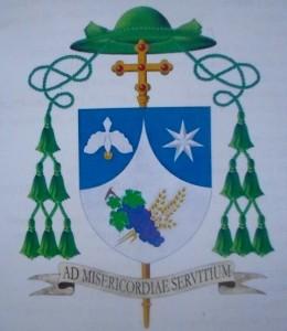 Les armoiries du nouvel évêque